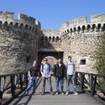 Outside the military fortress in Belgrade, Serbia.