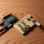Arduino microcontroller, force sensing resistors, bluetooth shield